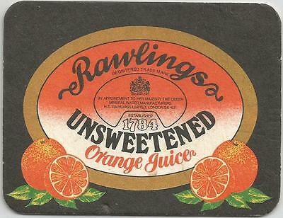 British RAWLINGS UNSWEETENED ORANGE JUICE GOLDEN DREAM RECIPE BAR COASTER