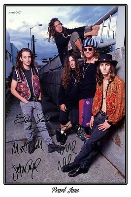 4x6 SIGNED AUTOGRAPH PHOTO PRINT OF PEARL JAM #26