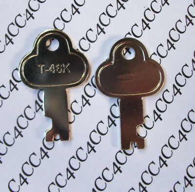 SALE Two T46 Steamer VNTG Trunk Key Long Footlocker Key T-46K N-3815k T-46K