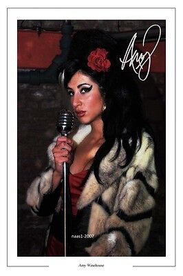 4x6 SIGNED AUTOGRAPH PHOTO PRINT OF AMY WINEHOUSE #3