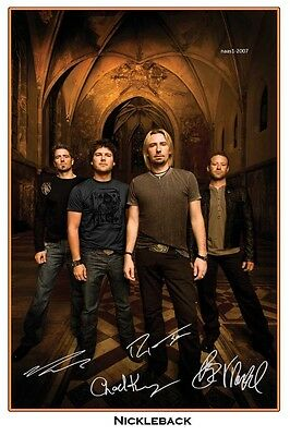4x6 SIGNED AUTOGRAPH PHOTO PRINT OF NICKLEBACK #3