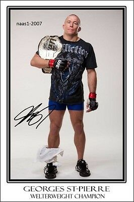 4x6 SIGNED AUTOGRAPH PHOTO PRINT OF GEORGES ST-PIERRE #3