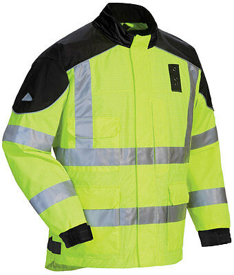 TOURMASTER Sentinel Law Enforcement Motorcycle Rain Jacket (Hi Vis) S (Small)