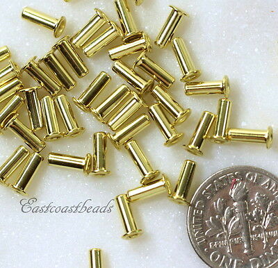 TierraCast Eyelets, 6.8 mm, Leather Craft Findings, Brass 50 Pcs, 8409