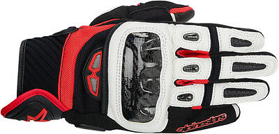 ALPINESTARS GP Air Textile/Leather Touch Screen Riding Gloves (Blk/White/Red) XL