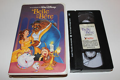Disney's BEAUTY AND THE BEAST Black Diamond VHS TAPE ** FRENCH / RAREST EDITION