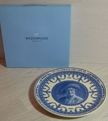 Boxed Plate By Wedgwood To Celebrate The Life Of The Queen Mother / Royal
