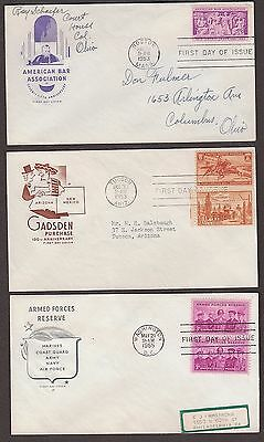 5 First Day Covers HOUSE OF FARNUM Cachets 1022 1028 1067 1097 1104