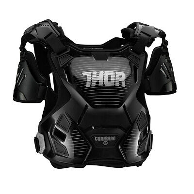 THOR MX Motocross Women's GUARDIAN Chest Protector/Roost Guard (Black/Silver)