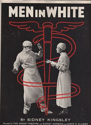 "Group Theatre ""Men In White"" Souvenir Program 1933 Luther Adler Morris Carnovsky"