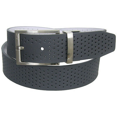 Nike Golf Men's Reversible Perforated Leather Belt,  Brand NEW