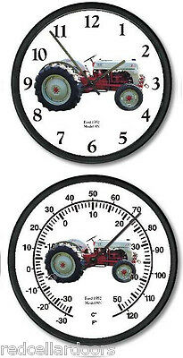 New FORD Model 8N Tractor Clock &Thermometer Set Vintage 1952 Restored Tractor