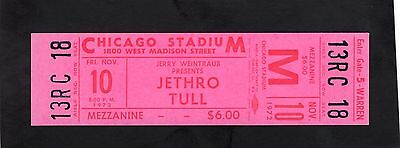 1972 Jethro Tull Unused Full concert ticket Thick As A Brick Chicago Rare