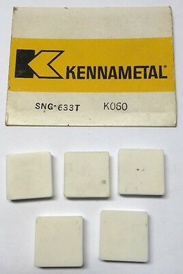 Kennametal Ceramic Inserts SNG-633T KO60 USA 5 Piece