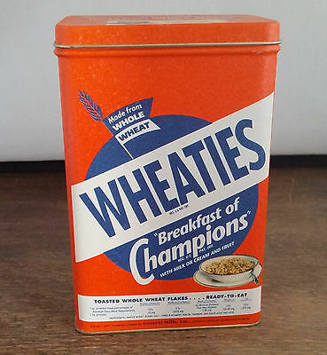 Vintage 1947 Wheaties Breakfast Cereal Tin Box Can Reproduction Bristolware 1993
