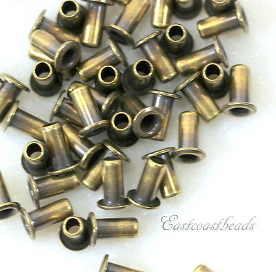 TierraCast Eyelets, 5.3mm, Leather Craft Findings, Antique Brass, 50 Pcs, 8227