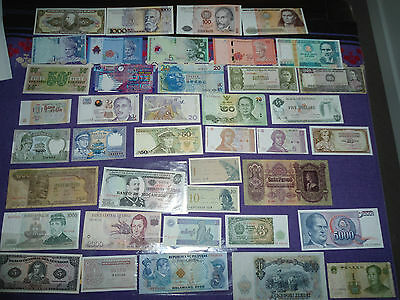 World Banknote collection with 48 unique notes international foreign money BULK