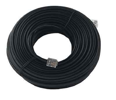 50 FT Modular Telephone Extension Phone Cord Cable Line Wire BLACK