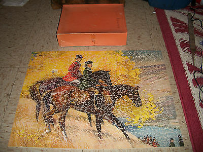 Antique J K Straus Wood Jigsaw puzzle 750 pieces #228 O'er Hill and Dale