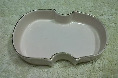 OLD vintage 1950 VIOLIN shaped decorative Figural Dish Tray WILDWOOD POTTERY