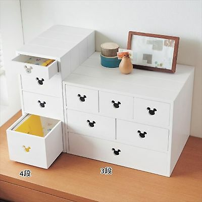 Disney Mickey Mouse mini chest Case Box Furniture EMS Free Shipping from JAPAN