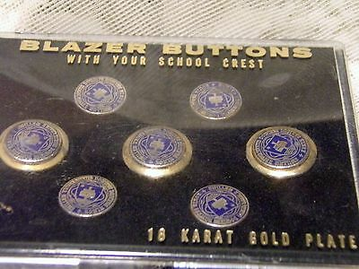Ben Silver 18KG Plate Sigillum Universitatis Buttons Vintage Set of 7