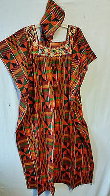 Womens Clothing African Kente Print Maxi Kaftan Caftan Long Dress Plus Size P# 2