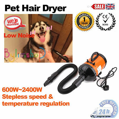 2800W Pet Dog Hair Grooming Fur Dryer Heater Blaster Stepless Speed Hairdryer