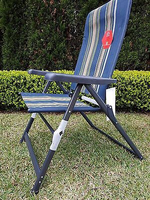 Mannagum Brand SORRENTO JUMBO Folding Outdoor Camping Chair Rate 120kg NEW