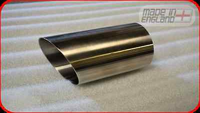"""2.5"""" inch high grade stainless steel exhaust tailpipe, trim, tip"""