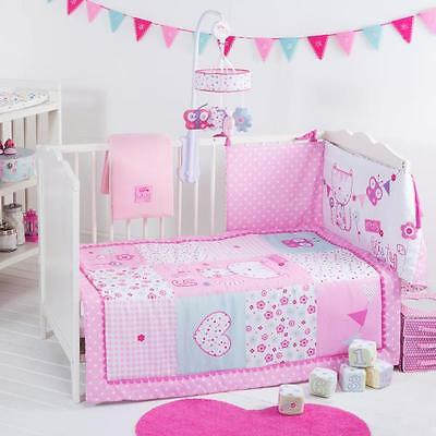 Red Kite Baby Girl Cot Cotbed Bedding Set Pretty Kitty Great Quality Bed 4 Piece