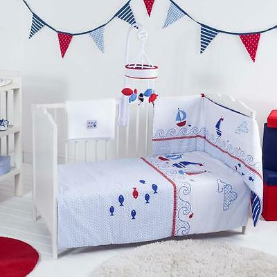 Red Kite Baby Boy Cot Cotbed Bedding Set Ships Ahoy Great Quality Bed 4 Piece