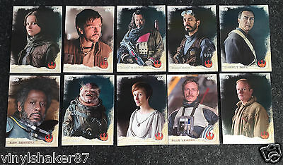 2016 Topps Star Wars Rogue One Series 1 Main Cast Trading Cards 10 Karten
