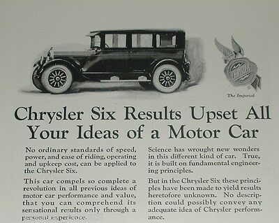 1924 Chrysler advertisement page, CHRYSLER Six, Imperial