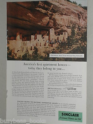 1956 Sinclair Oil Corp ad, Mesa Verde, Cliff Palace CO