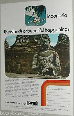 1973 Garuda Indonesia Airways ad, Vishnu temple