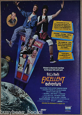 1989 BILL & TEDS EXCELLENT ADVENTURE advertisement, Keanu Reeves, cool movie