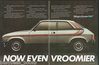 1980 ALLEGRO EQUIPE 2-page advertisement, British advert, Austin Morris Allegro