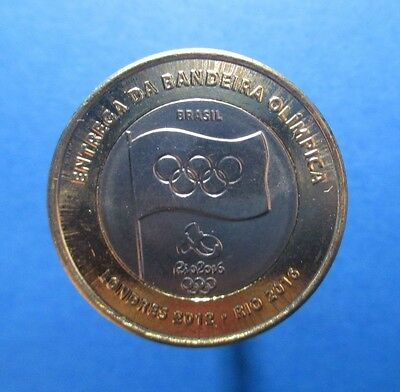 Brazil - Bimetal 1 Real Coin 2012 Unc Year Flag Rio London Olympic Games