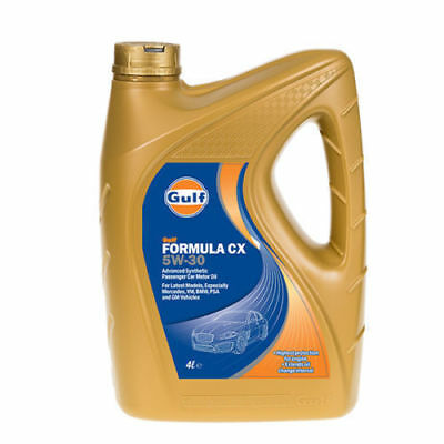Gulf Formula CX SAE 5W30 Car Engine Oil 4 Litre Advanced Synthetic