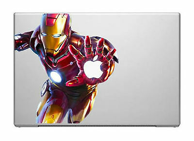 "IRON MAN [ATTACK!] Laptop Vinyl Sticker for MacBook 13"",15"" or 17"""