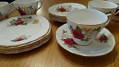 Vintage Crown Roayl Rose design tea set