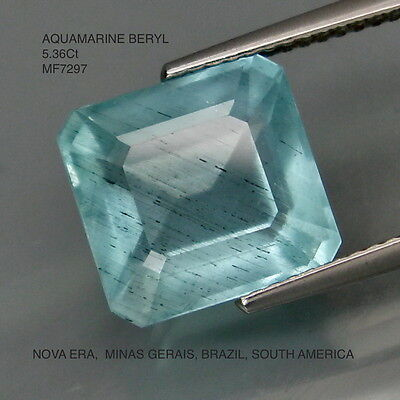 AQUAMARINE BERYL NATURAL MINED UNTREATED 5.36Ct  MF7297