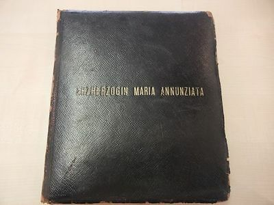 HISTORIC GUEST BOOK of ARCHIDUCHESS MARIA ANNUNZIATA of HABSBURG / AUSTRIA  !!!