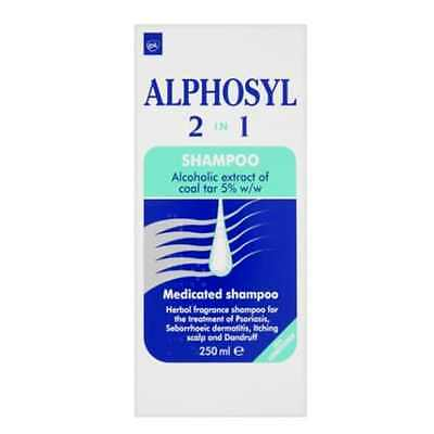 Alphosyl 2 In 1 Medicated Shampoo For Treatment Of Itching Scalp Dandruff 250ml