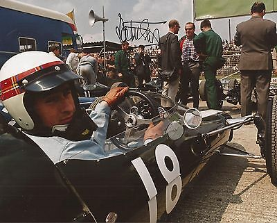 FORMULA ONE/MOTOR RACING: SIR JACKIE STEWART SIGNED 10x8 ACTION PHOTO+COA