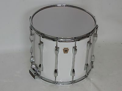 "Ludwig 14"" Marching Snare Drum Monroe Badge #3234983 New Heads 12 Lugs"