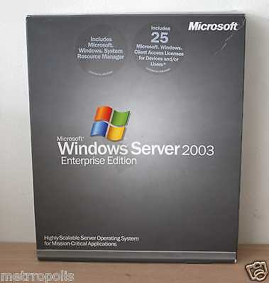 Microsoft Windows Server 2003 Enterprise Edition with 25 CALS ( P72-00001)