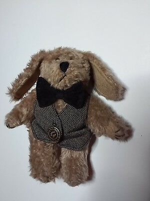 Puppy Dog Boyds Bears Collection With Vest Bow Tie Plush Stuffed Animal Toy 5.5""