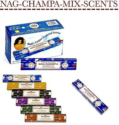 Satya Genuine Nag Champa Incense Sticks Joss 15g Free P & P